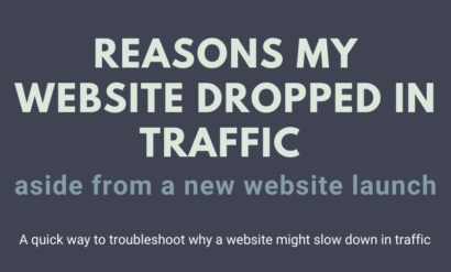 reasons website dropped traffic