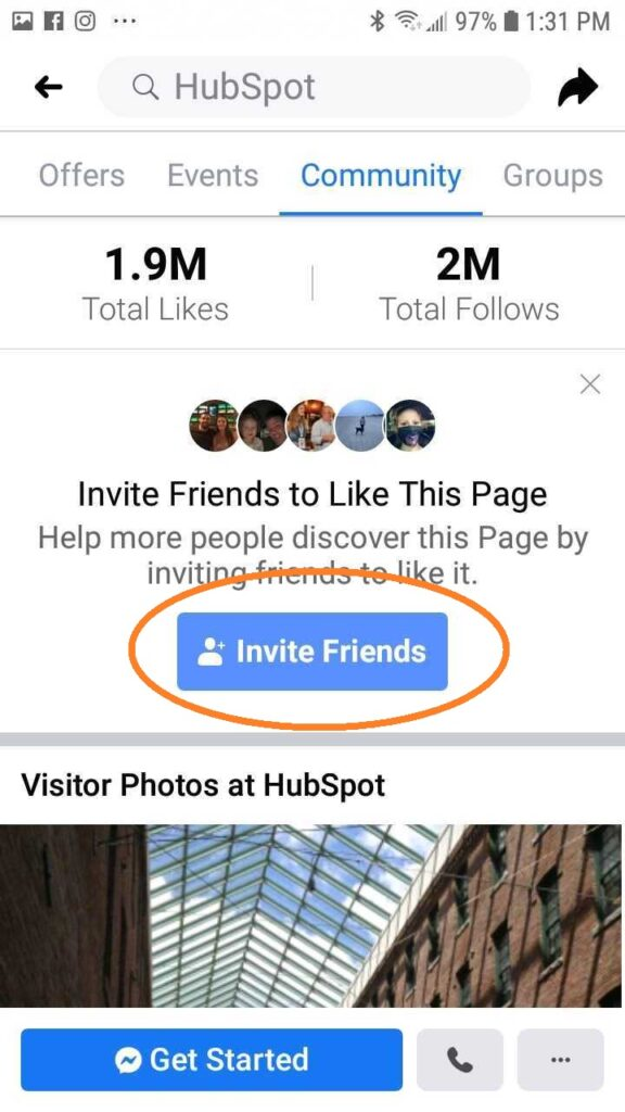 facebook invite mobile