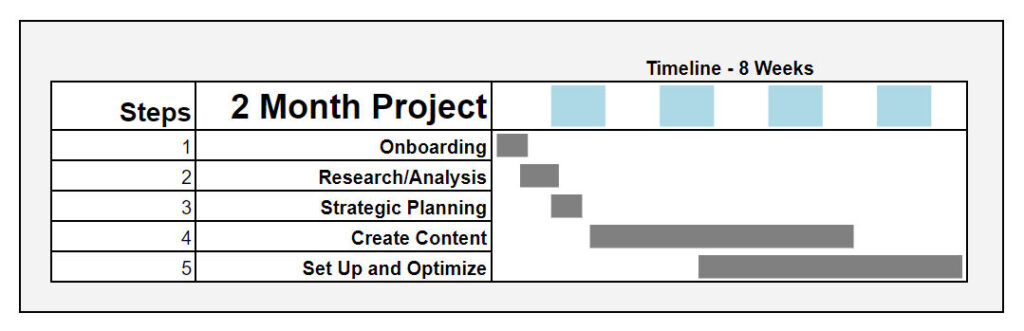 seo project timeline